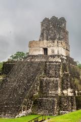 Pyramid at the main square of the Maya city Tikal, Guatemala, Tikal