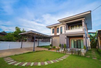 modern house with sky