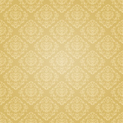 Seamless holiday golden pattern. Seamless pattern can be used for wallpaper, pattern fills, web page background,surface textures, wrapping paper. Floral textile background
