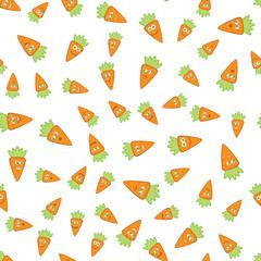 Vector Carrots Seamless Pattern