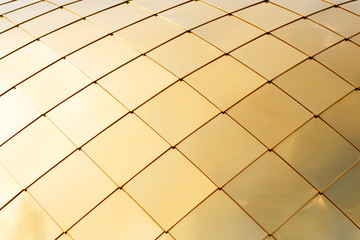 Surface of gold plates. Abstract gold background