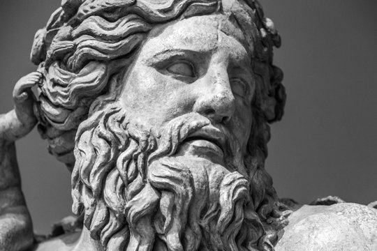 The ancient marble portrait of man with beard