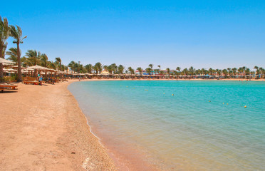 Golden beach in Hurghada, Egypt