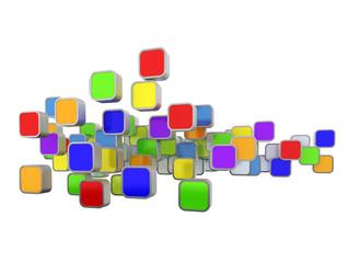 Multicolored icon set