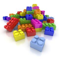 Multicolored Construction blocks