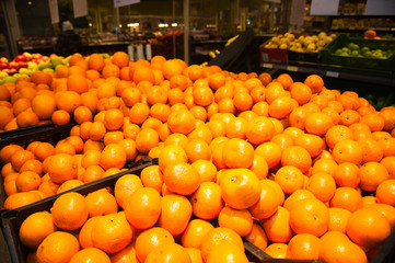 Oranges in supermarket