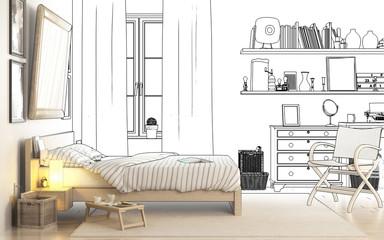 Schlafzimmereinrichtung (Konzept)