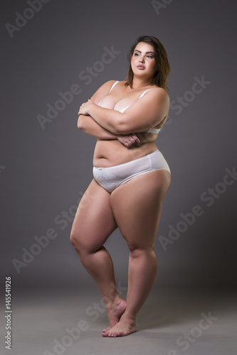 over weight pld women naked