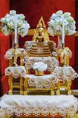 set of altar table is faith in buddha