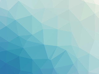 Abstract turquoise blue gradient polygonal background