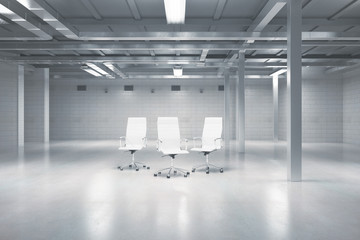 Swivel chairs in warehouse