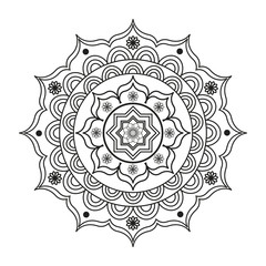 Lovely mandala for adult coloring books