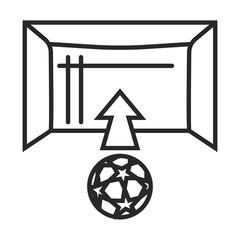 Soccer goal vector icon