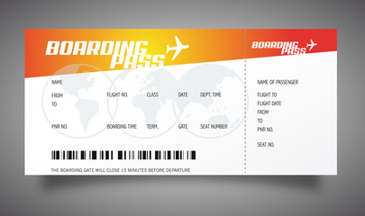 Boarding pass / Billet d'avion