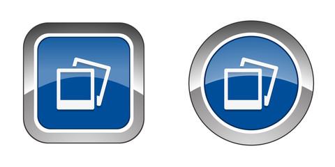 Chrome  Web  Button - Blue