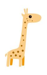 cute giraffe cartoon, vector