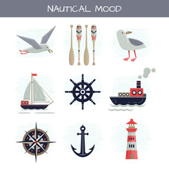 Set of Nautical Vector Pictures