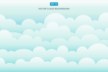 cloud scape vector background