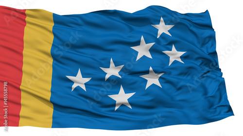 Isolated Durham City Flag City Of North Carolina State Waving On