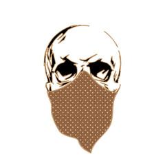 Street style skull in bandana. T-shirt design.
