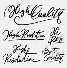 High quality hand written typography. Good use for logotype, symbol, cover label, product, brand, poster title or any graphic design you want. Easy to use or change color