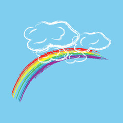 Rainbow on sky sign