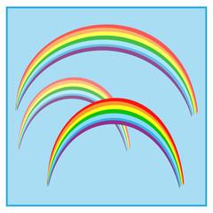 Rainbow on sky sign