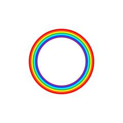 Rainbow circle sign
