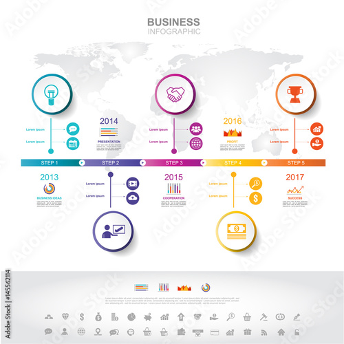 infographic template timeline infographic business success concept