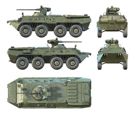 3D renders of Russian APC BTR-80A