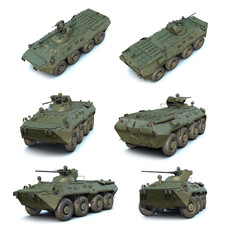 3D illustrations set of Russian APC BTR-80A