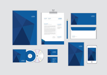 corporate identity template for your business includes CD Cover, Business Card, folder, Envelope and Letter Head Designs No.10