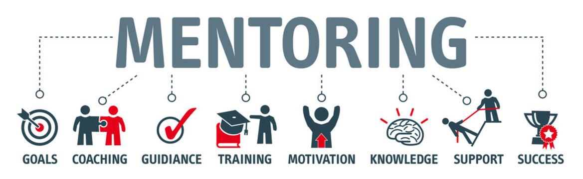 Banner Mentoring concept english keywords