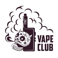Vector vintage illustration vape logo