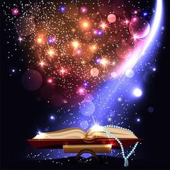 Magic book with light