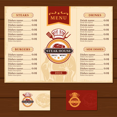 illustration template flyer for the restaurant, cafe menu