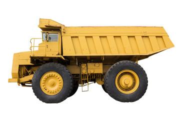 Mining truck isolated