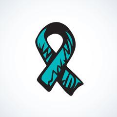 Aid ribbon logo. Vector drawing