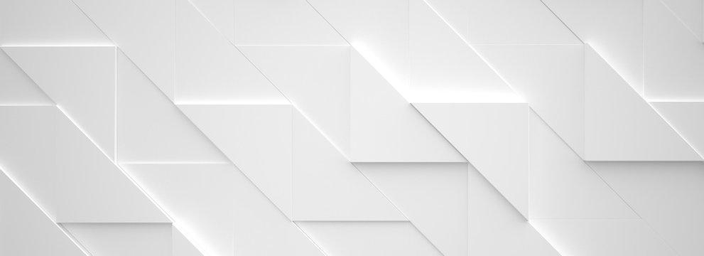 Wide White Background 3d illustration