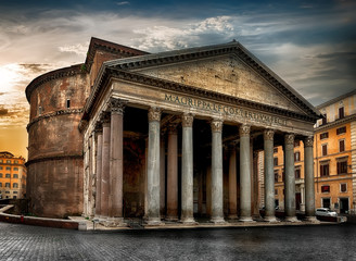 Printed roller blinds Monument Ancient roman Pantheon
