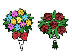 Blumenstrauß mit Rosen zur Hochzeit