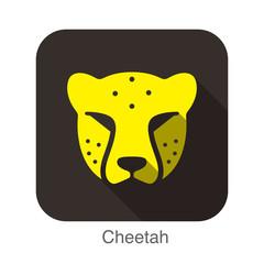 Cheetah animal face icon