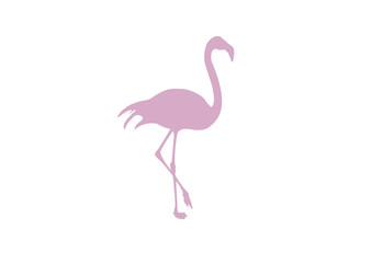 Flamingo minimal vector illustration, silhouette isolated on a white background