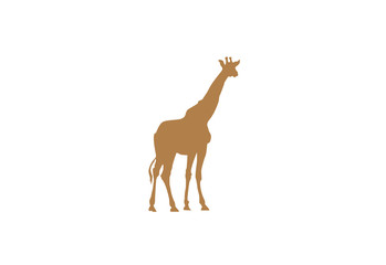 Giraffe minimal vector illustration, silhouette isolated on a white background