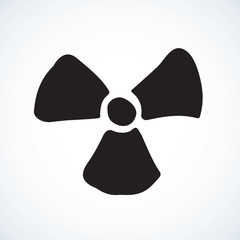 Symbol of radiation. Vector drawing