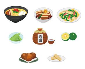沖縄料理のイラストセット