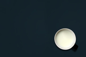 cup of milk on blackboard with space for text