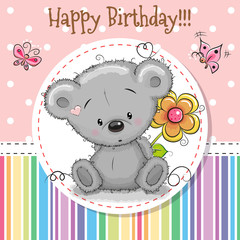 Greeting card Cute Teddy Bear
