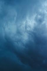 Gloomy blue stormy sky