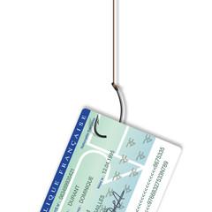 carte d'identité - hameçon - pirate - hacker - sécurité - identité